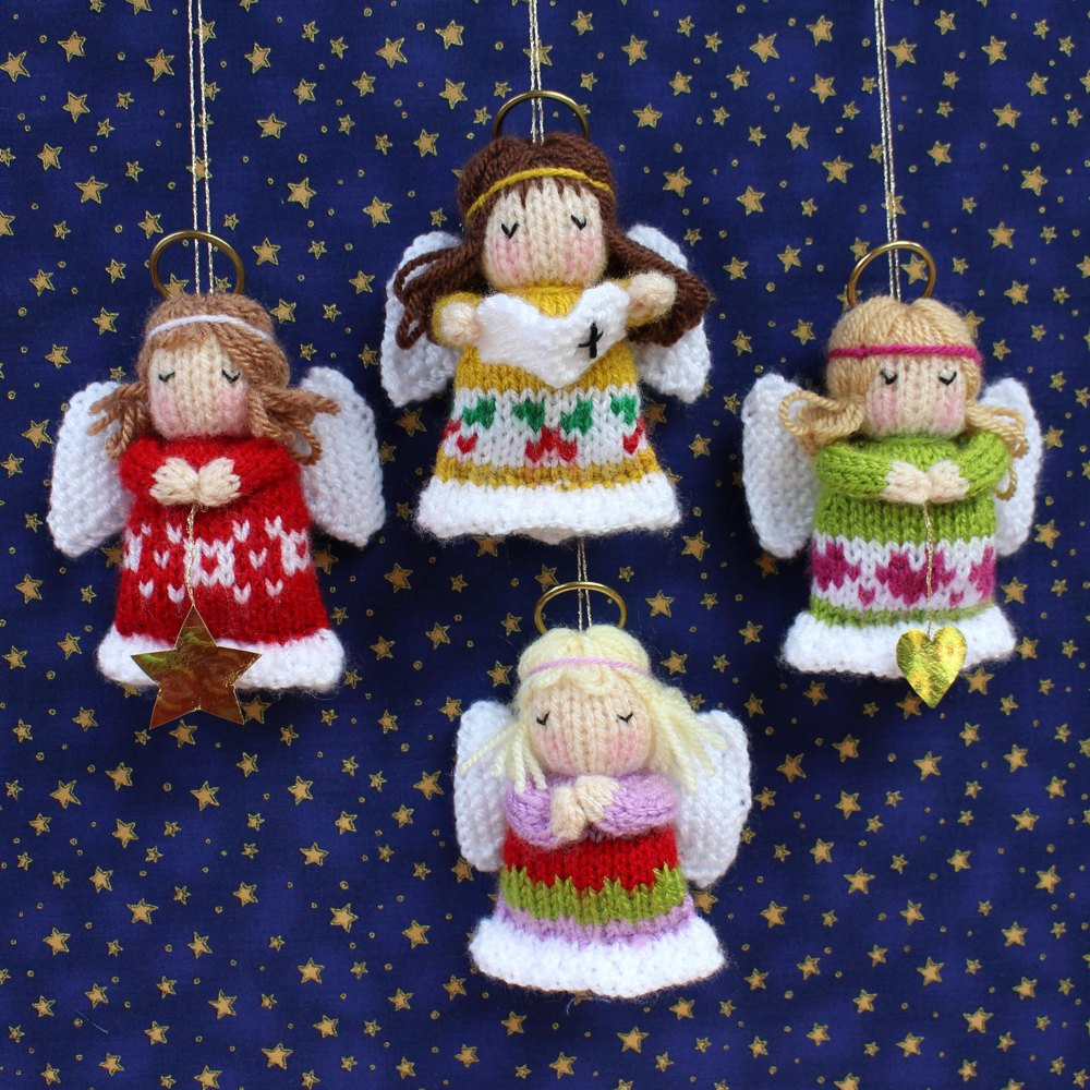 Little Angels - Christmas Decorations Knitting pattern by Dollytime