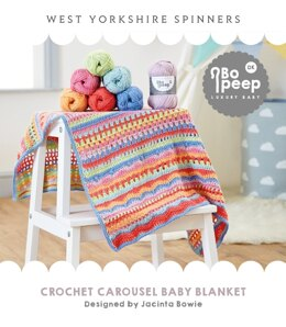 Carousel Crochet Blanket  in West Yorkshire Spinners Bo Peep Luxury Baby DK - WYS0017 - Downloadable PDF