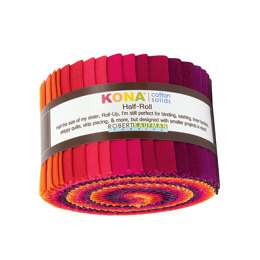 Robert Kaufman Kona Cotton Solids 2.5in Strip Roll - HR-145-24