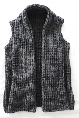 Chunky Wide Collar Vest