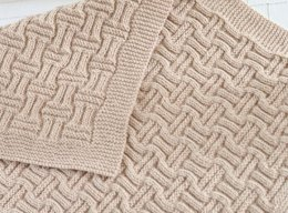 Double Basketweave Blanket