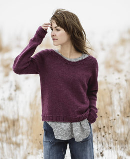 Cromwell Pullover in Blue Sky Fibers Woolstok - 201615 - Downloadable PDF