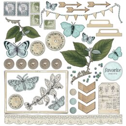 "49 And Market Collection Pack 12""X12"" - Vintage Artistry Sky"