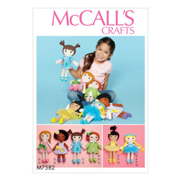 McCall's Cloth Doll and Clothes M7582 - Paper Pattern Size One Size
