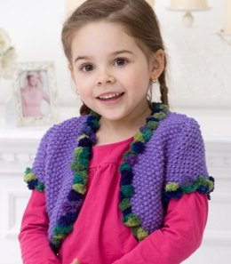 Girl's Bolero in Red Heart Super Saver Economy Solids - WR2169