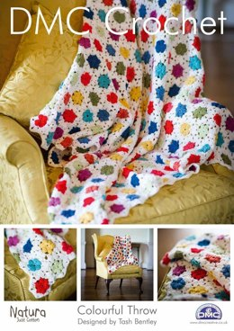 Colourful Throw in DMC Natura Just Cotton - 14894L/2