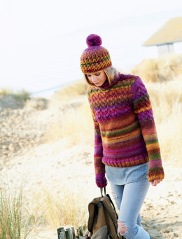 Sweater and Hat in Rico Creative Melange Chunky - 360 - Downloadable PDF