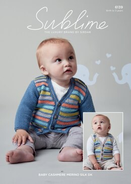 Cardigan and Waistcoat in Sublime Baby Cashmere Merino Silk DK - 6139 - Downloadable PDF