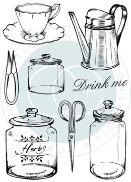 Craft Consortium A5 Clear Stamps - Utensils