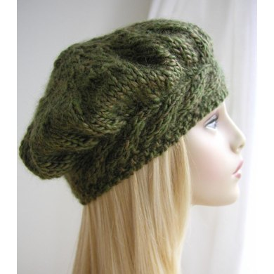 Weekend Cable Beret Knitting Pattern By Julia Marsh