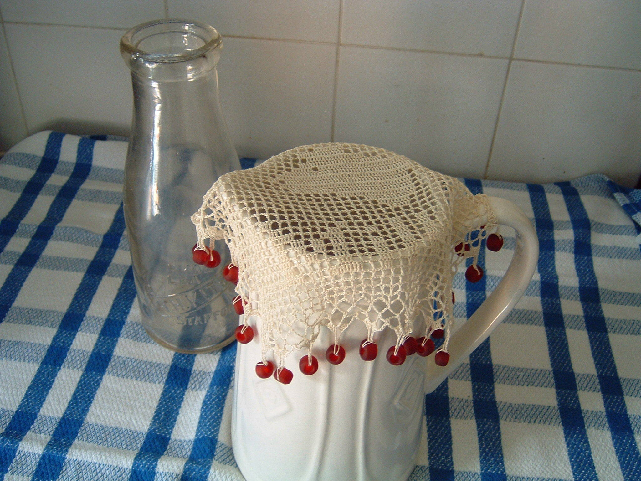 Milk jug cover crochet project by Frances Powell (Buttercup ...
