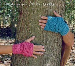 Fingerless Mittens Chic for Valentine WOMAN & MAN