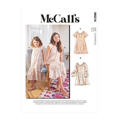 McCall's Misses' & Children's Dresses M8216 - Sewing Pattern