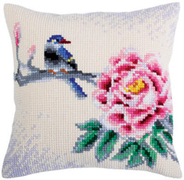 Collection D'Art Flower and Bird Cross Stitch Cushion Kit - Multi