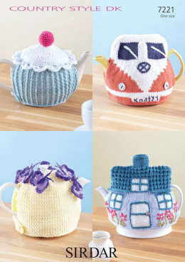 Knitted and Crocheted Teacosies in Sirdar Country Style DK - 7221 - Downloadable PDF