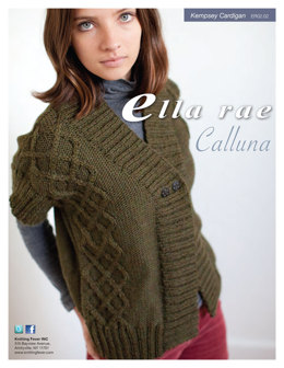Kempsey Cardigan in Ella Rae Calluna - ER02-02 - Downloadable PDF