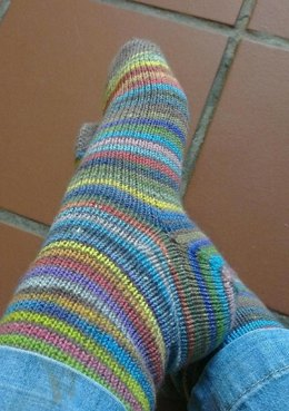 Vanilla Socks [Toe-up & afterthought heel]