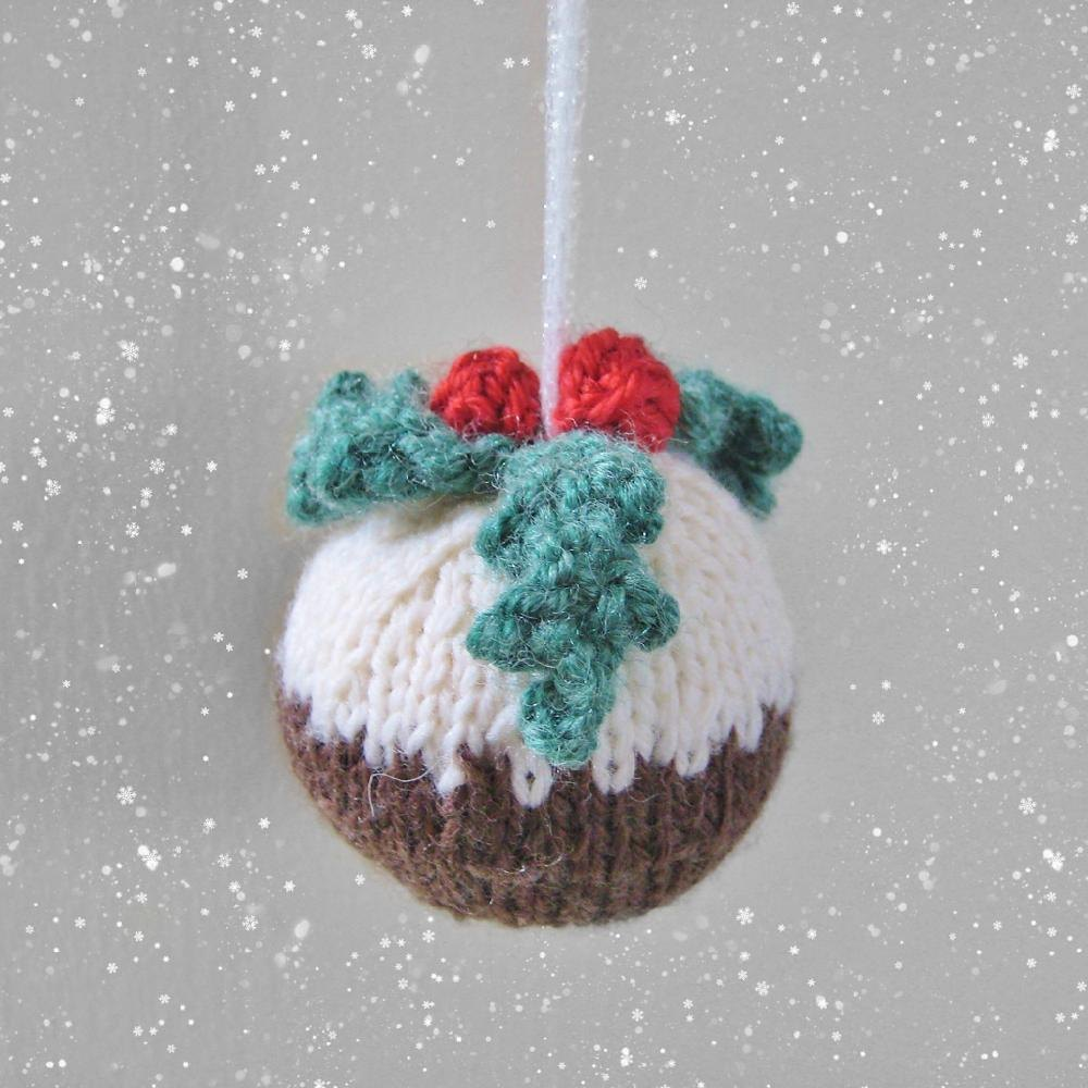 Christmas Pudding Bauble Knitting Pattern By Amanda Berry