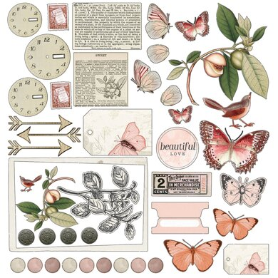 "49 And Market Collection Pack 12""X12"" - Vintage Artistry Coral"