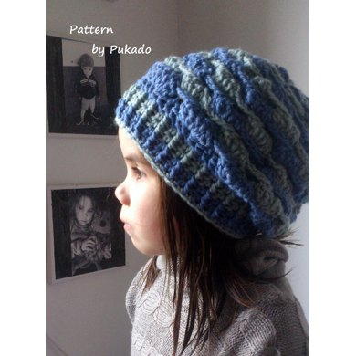 Crochet Pattern Waves Hat And Fingerless Mittens Easily