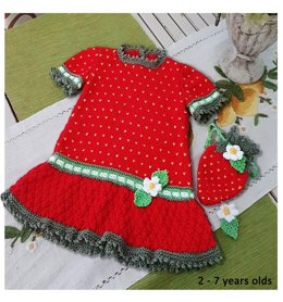 Strawberry Dress with Purse - 2 - 7 years old