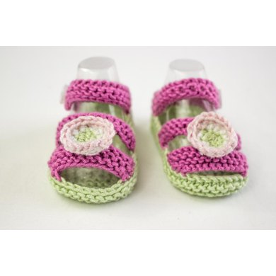 Girls Knit Summer Sandals With Primroses