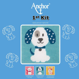 Anchor 1st Kit - Puppy Love Tapestry Kit - 15cm x 15cm