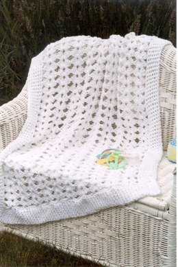 Shell Flower Baby Afghan in Plymouth Yarn Fantasy Naturale - F032