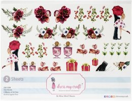 Dress My Craft Image Sheet 240gsm A4 2/Pkg - Be Mine