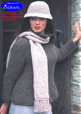 Liberty Hat and Scarf in Adriafil Point - Downloadable PDF