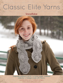 Snowflake Scarf in Classic Elite Yarns Fresco - Downloadable PDF