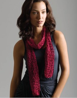 Corsage 1-Ball Drop-Stitch Scarf in Tahki Yarns Montana