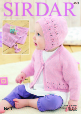 Cardigan, Bonnet, Shoes and Blanket in Sirdar No.1 - 4849