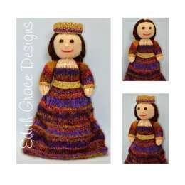 Byzantine Empress Doll Knitting Pattern