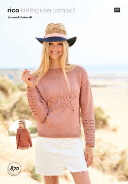 Cardigan and Sweater in Rico Essentials Cotton DK - 870 - Downloadable PDF