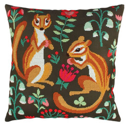 Rto Chipmunk Capers Cushion Cross Stitch Kit