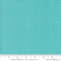 Moda Fabrics First Romance Blue Eye Floral Cut to Length - Seeds Aqua