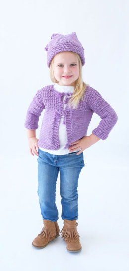 Roberta Cardi & Hat in Knit One Crochet Too Dungarease - 2412 - Downloadable PDF