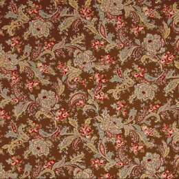 Moda Fabrics Roses and Chocolate II Floral Roulards Roses Brown