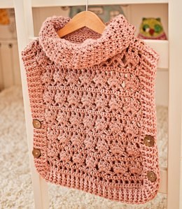 Rose Poncho - Pullover