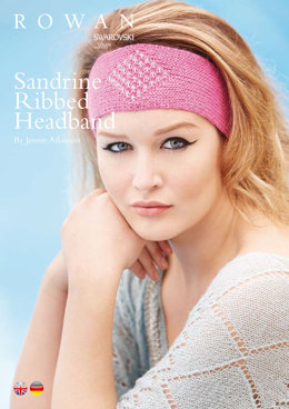 Sandrine Ribbed Headband in Rowan Finest - ROC002 - Downloadable PDF