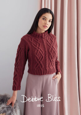 Sorrell Sweater in Debbie Bliss Iris - Downloadable PDF