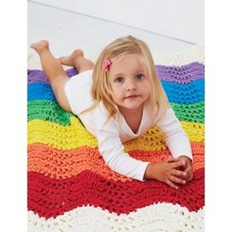 End of the Rainbow Blanket in Bernat Softee Baby Chunky - Downloadable PDF