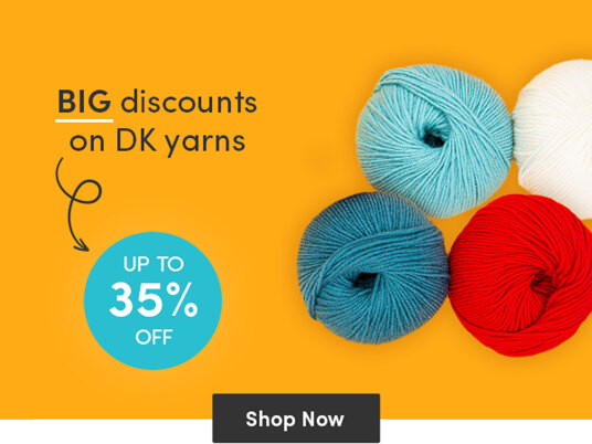 Up to 35 percent off DK yarns!