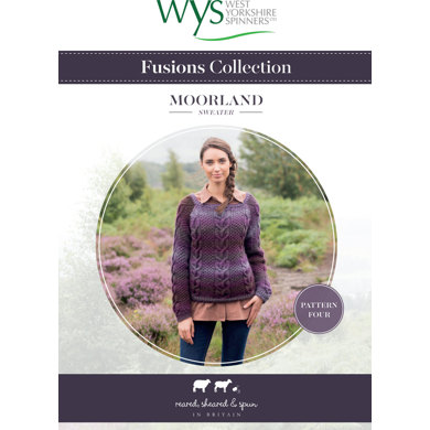 Moorland Sweater in West Yorkshire Spinners Aire Valley Aran Fusions - Downloadable PDF