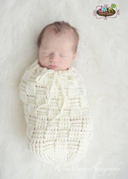 Basket Weave Cocoon, Swaddle Sack, and Bowl