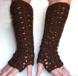 Elbow Length Opera Lace Fingerless Gloves