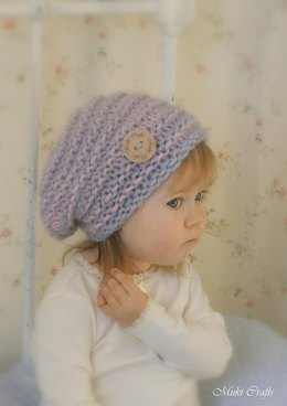 Slouchy striped hat Kitty