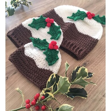 Christmas Pudding & Holly Hat
