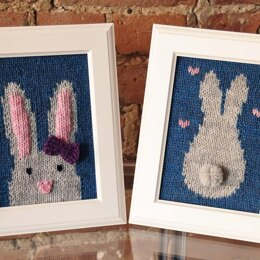Some Bunny Loves You Knitted Wall Art